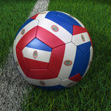 Soccer Ball with Paraguay Flag Royalty Free Stock Photography