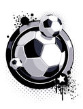 Soccer ball pattern. Pattern with soccer ball and ink splashes Stock Image