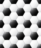 Soccer ball pattern. Seamless vector leather black and white soccer ball pattern design Stock Photography
