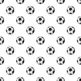 Soccer ball pattern, cartoon style Stock Photo