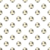 Soccer ball pattern, cartoon style Stock Photos