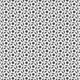 Soccer ball pattern. Monochrome background design. vector illustration Royalty Free Stock Photo