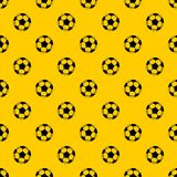 Soccer ball pattern vector. Soccer ball pattern seamless vector repeat geometric yellow for any design royalty free illustration