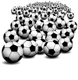 Soccer ball on perspective Royalty Free Stock Photos