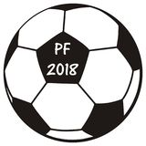 Soccer ball, PF 2018 Stock Photo