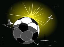 Soccer ball the planet Stock Image