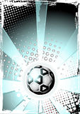 Soccer ball poster Royalty Free Stock Photos