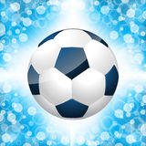 Soccer ball poster with blue background Stock Photography