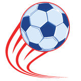 Soccer ball poster Royalty Free Stock Image