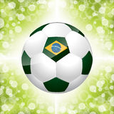 Soccer ball poster with green background Royalty Free Stock Image