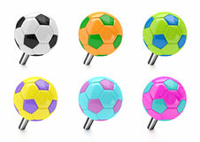 Soccer ball push pin Stock Image
