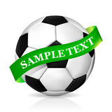 Soccer ball with ribbon Royalty Free Stock Images