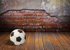 Soccer ball in the room. Stock Photo