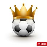 Soccer ball with royal crown Royalty Free Stock Photography