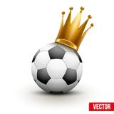 Soccer ball with royal crown of princess Stock Photo