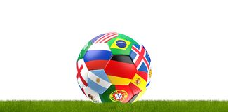 Soccer ball russia flag design 3d rendering. Design Stock Photos