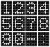 Soccer ball score board number . Stock Photos