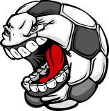 Soccer Ball Screaming Face Cartoon  Image Stock Photos