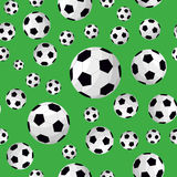 Soccer Ball Seamless Football Background Pattern. Vector Royalty Free Stock Images