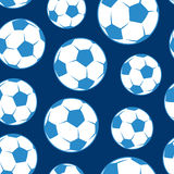 Soccer ball seamless pattern Stock Images