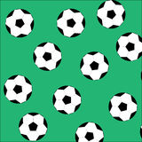 Soccer ball seamless pattern Royalty Free Stock Photography