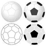 Soccer ball set Stock Photography
