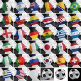 Soccer Ball Set Royalty Free Stock Photo