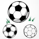 Soccer ball set Royalty Free Stock Images