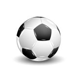 soccer ball with shadow Royalty Free Stock Images