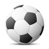 Soccer ball with shadow Stock Photo