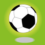 Soccer. Ball with shadow effect on special green background Stock Photo