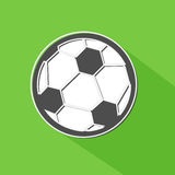 Soccer ball shadow icon. Royalty Free Stock Photography