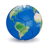 Soccer ball shaped earth Royalty Free Stock Image