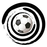 Soccer ball with shapes Stock Photography