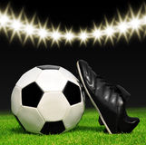 Soccer ball and shoes Stock Photography