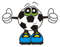 Soccer ball showing gesture cool Royalty Free Stock Images
