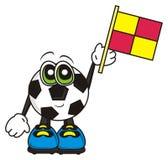 Soccer ball shows the flag Royalty Free Stock Photos