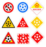 Soccer ball signs Royalty Free Stock Photos