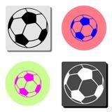 Soccer ball. flat vector icon stock illustration