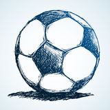 Soccer ball sketch Stock Images