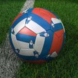 Soccer Ball with Slovenian Flag Royalty Free Stock Photography