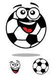 Soccer ball smiling cartoon personage Stock Photography