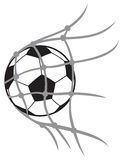 Vector football ball Royalty Free Stock Photo