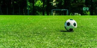 Soccer ball on soccer field conner