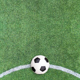 Soccer ball on Soccer field Royalty Free Stock Photos