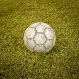 Soccer Ball on a Soccer Field Stock Images