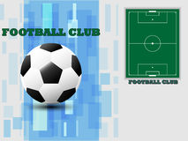 Soccer ball and soccer field On a white background illust. Vector soccer ball and soccer field On a white background illustration Royalty Free Stock Photography