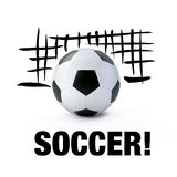 Soccer Ball and Soccer Goal Stock Images