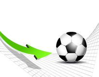 Soccer ball and soccer net Stock Photos