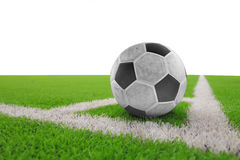 Soccer ball. Soccre ball on green grass Royalty Free Stock Photo